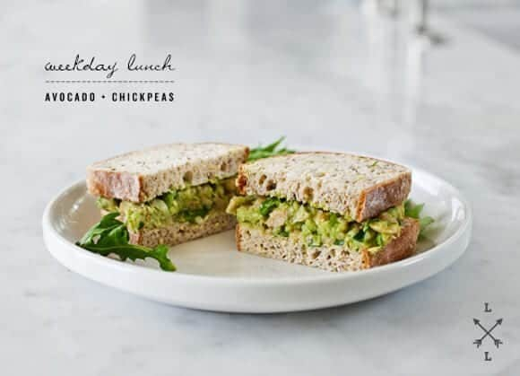 Avocado and Chickpea Salad Sandwich - I'm obsessed with this avocado ...
