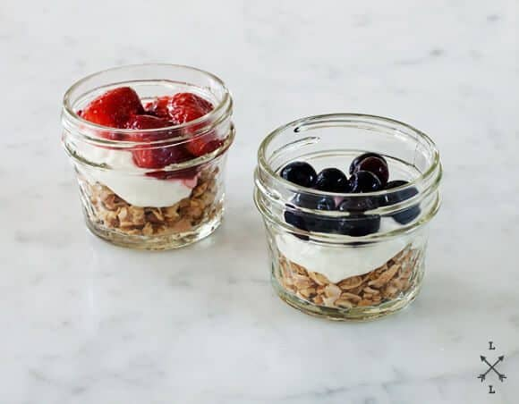 Blueberry And Maple Pecan Granola Parfait Recipe — Dishmaps
