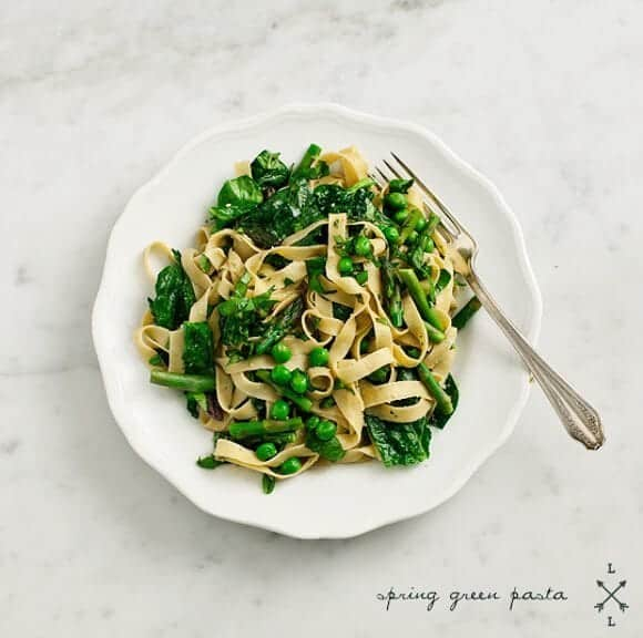 spring green lemon & basil pasta