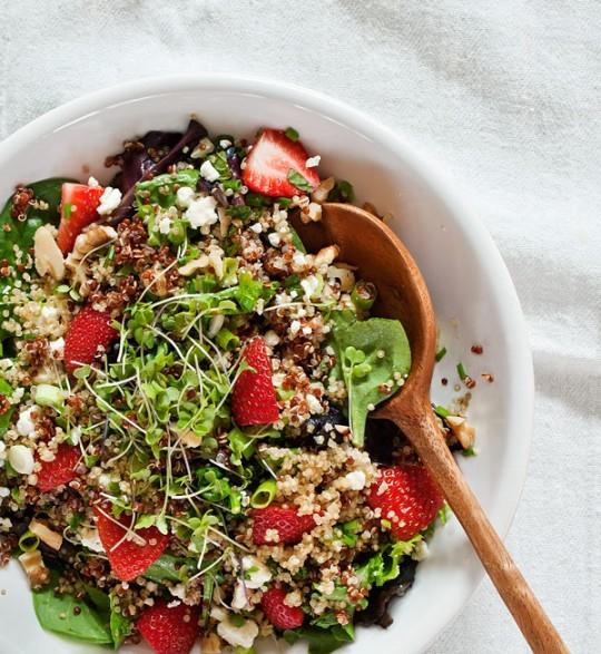 Strawberry quinoa & feta salad Recipe - Love and Lemons