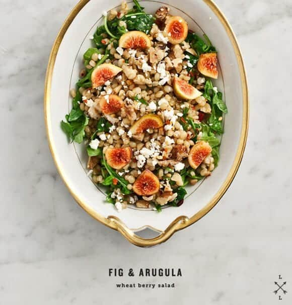 Fig & Arugula Wheat Berry Salad Recipe - Love and Lemons