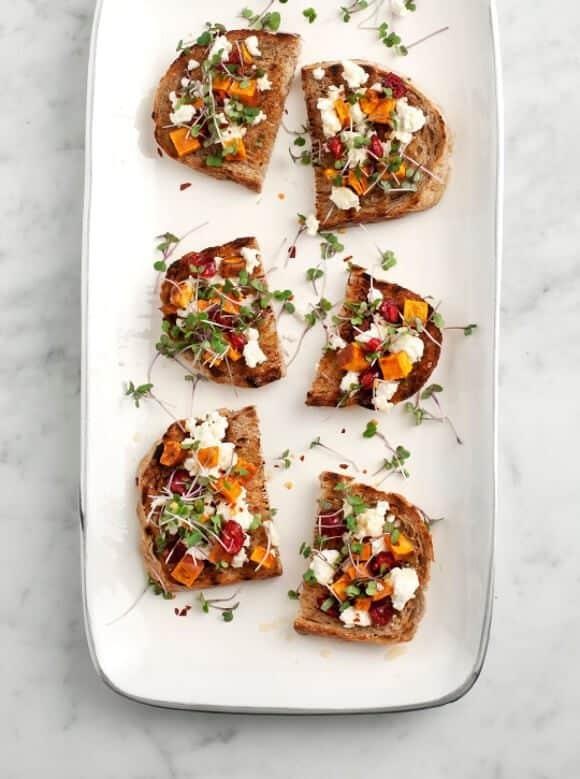 sweet potato & feta crostini / loveandlemons.com