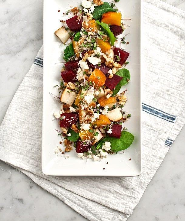 Roasted Beet, Pear and Walnut Salad