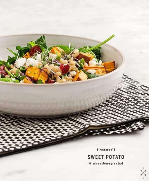 sweet potato & cranberry salad recipe - Love and Lemons