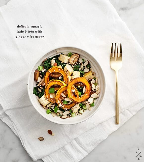 Roasted Delicata Squash Bowl w/ Ginger Miso | Love &amp; Lemons