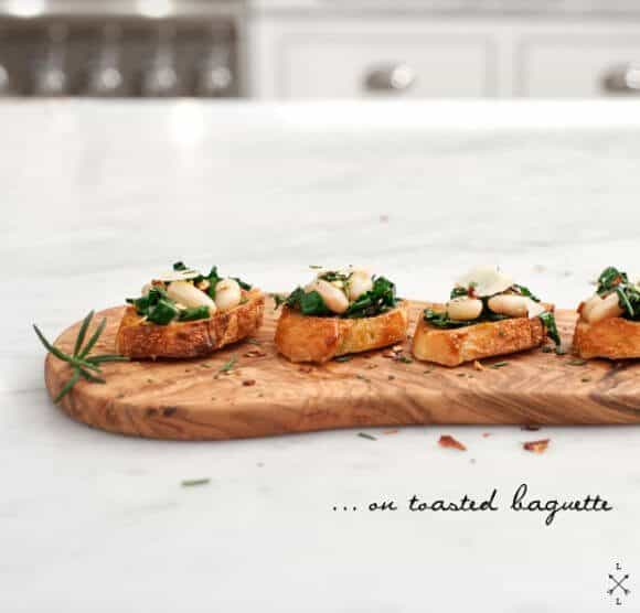 Kale & White Bean Crostini // Love & Lemons