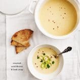Roasted Cauliflower &amp; Leek Soup // loveandlemons.com