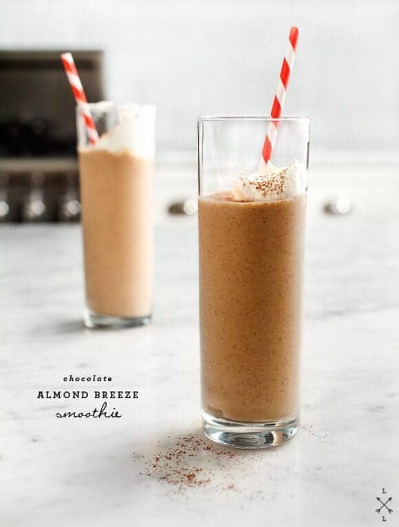 chocolate almond breeze smoothie