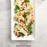 pan seared cauliflower steaks / loveandlemons.com