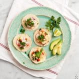 mini ceviche tacos, two ways (vegetarian &amp; pesca)