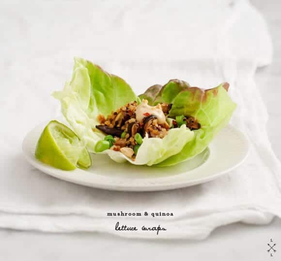 mushroom &amp; quinoa lettuce wraps / loveandlemons.com
