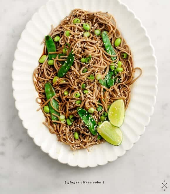 ginger-citrus soba noodles / loveandlemons.com