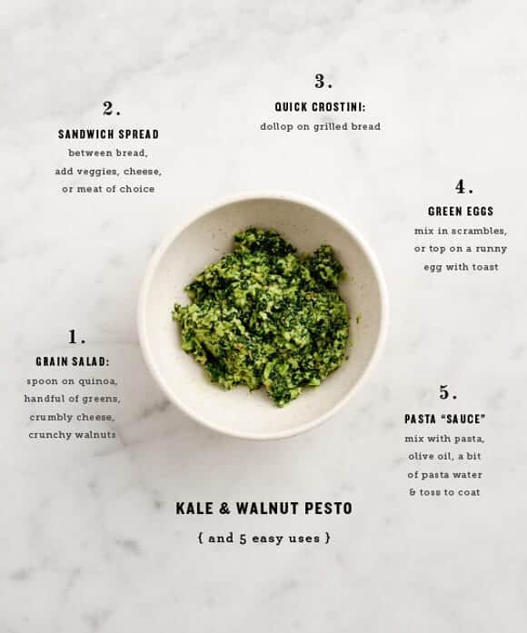 kale & walnut pesto + easy uses  / loveandlemons.com