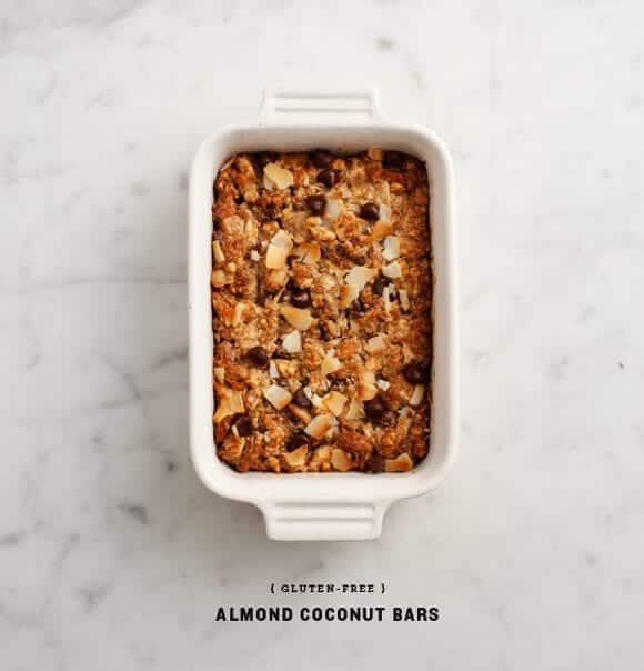 gluten-free almond coconut bars recipe - Love and Lemons