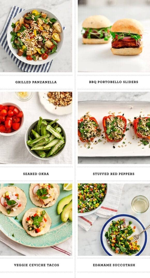 red, white, blue (& some green) //  veggie 4th of July recipes