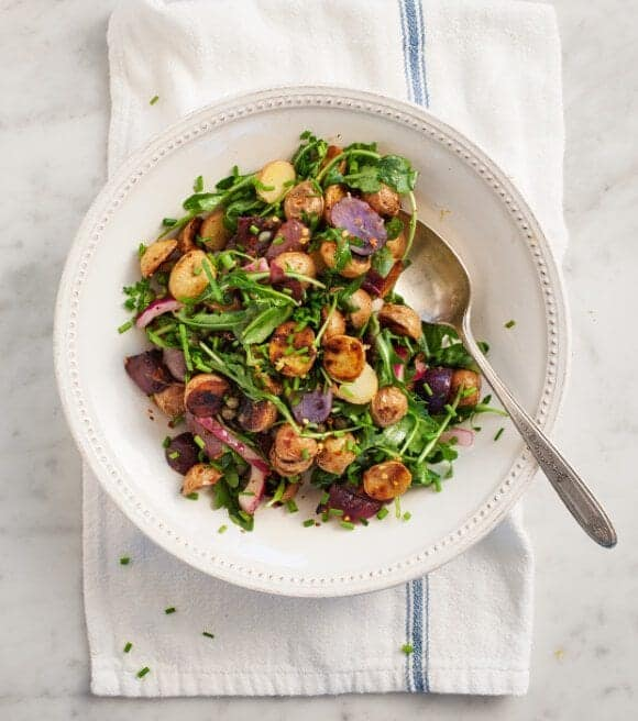 Grilled Potato & Arugula Salad // loveandlemons.com