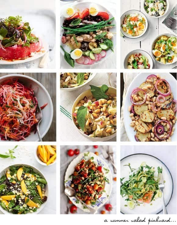 summer salad pinboard