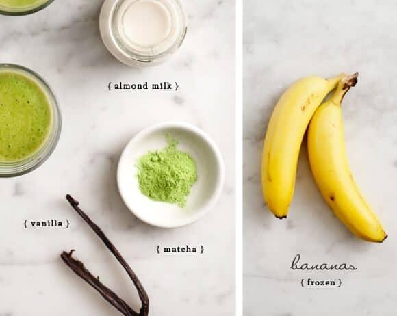 matcha vanilla smoothies // loveandlemons.com