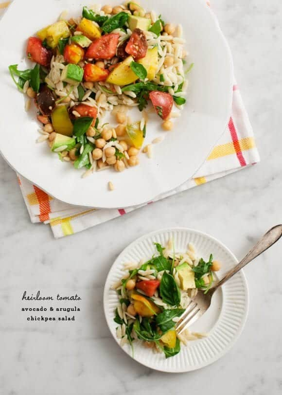 heirloom tomato & avocado chickpea salad / loveandlemons.com
