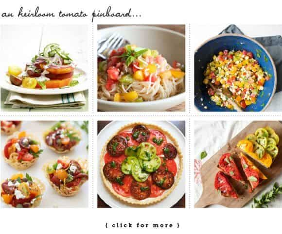 heirloom tomato pinboard