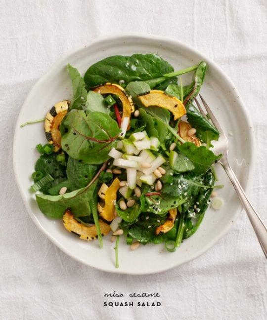 Miso Sesame Squash Salad Recipe - Love and Lemons