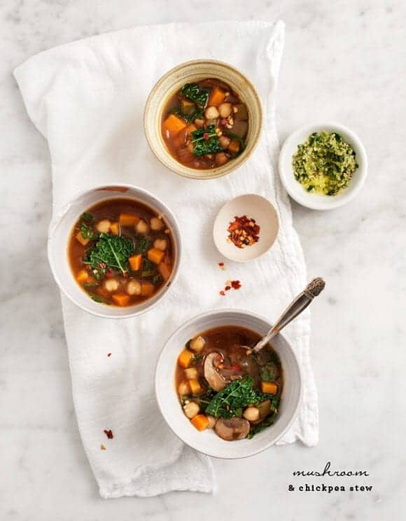 mushroom and chickpea stew / loveandlemons.com
