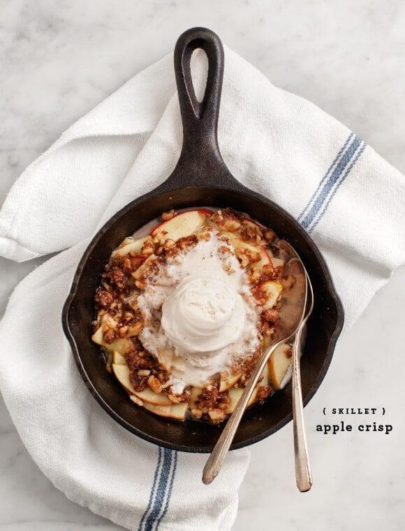 Skillet Apple Crisp / @loveandlemons