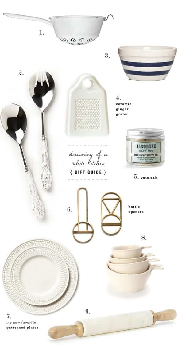 a white kitchen gift guide / @loveandlemons
