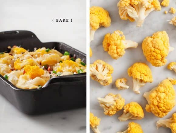 cauliflower mac and cheese (vegan and gf options) / loveandlemons.com