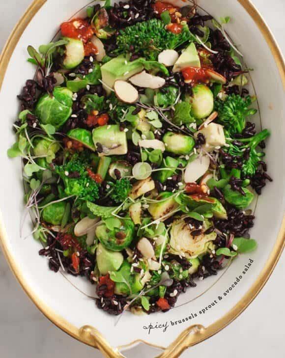 brussels sprout & avocado salad / @loveandlemons
