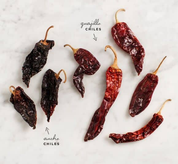 dried chile salsa
