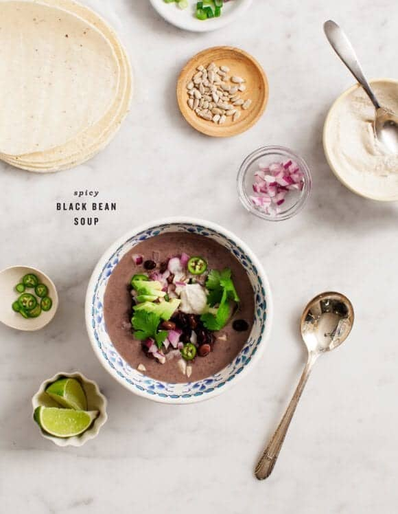 spicy black bean soup / loveandlemons.com