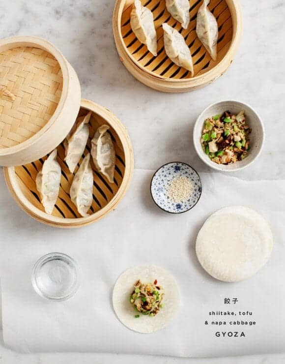 shiitake and napa cabbage gyoza / loveandlemons.com