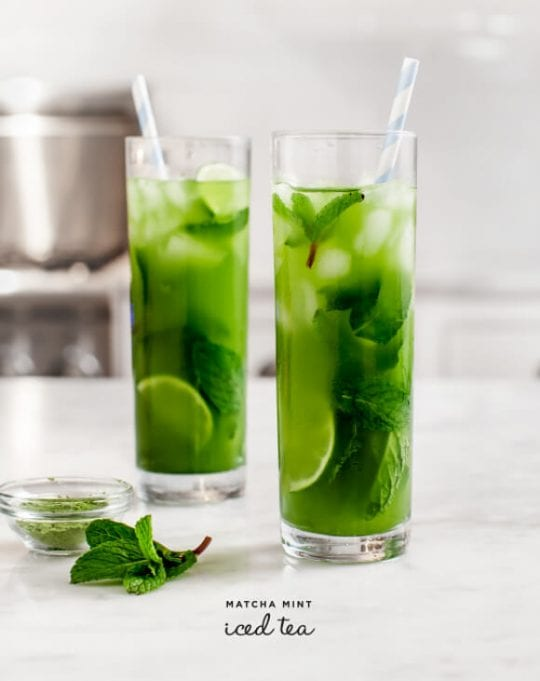 Matcha Mint Iced Tea Recipe