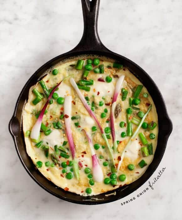Spring Onion Frittata Recipe - Love and Lemons