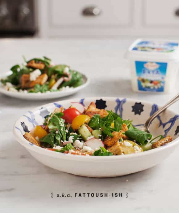 feta and harissa fattoush salad @loveandlemons