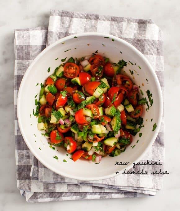 grilled polenta & zucchini salsa recipe - Love and Lemons
