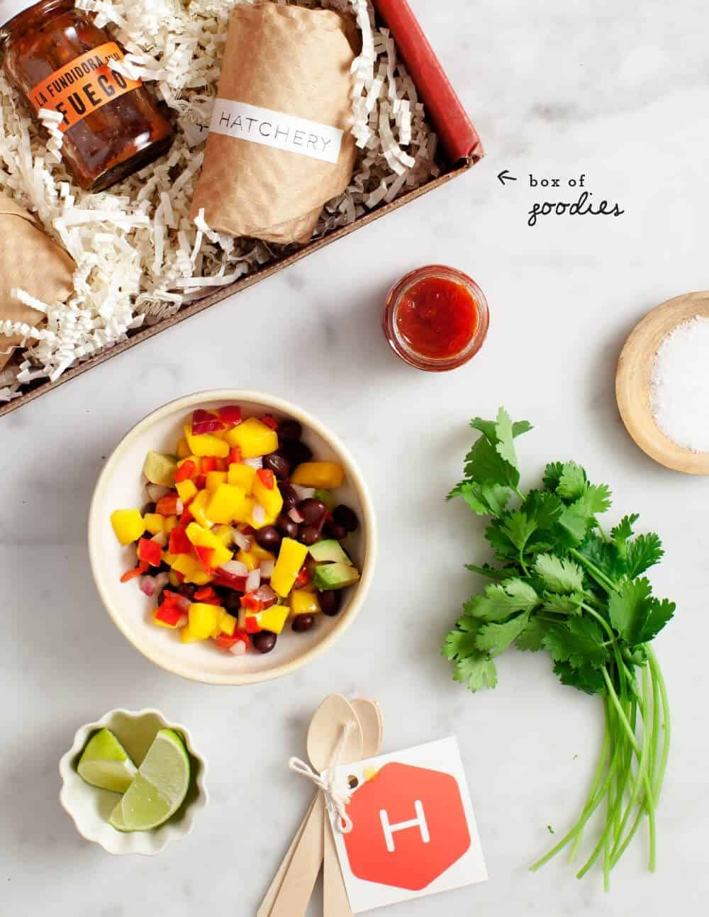 mango habanero black bean tacos / @loveandlemons