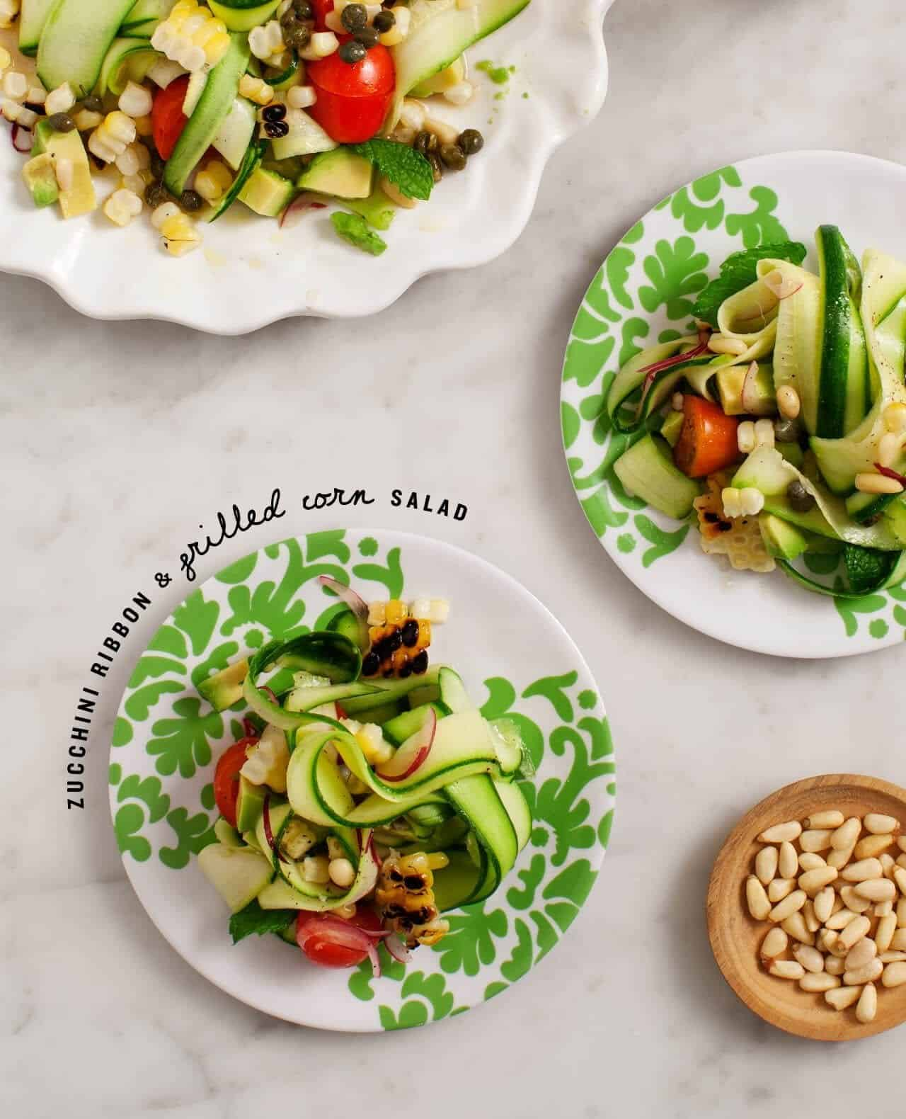 zucchini and grilled corn salad / @loveandlemons