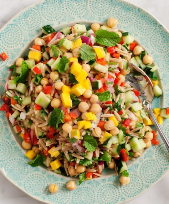 Mango & Red Pepper Orzo Salad Recipe - Love and Lemons