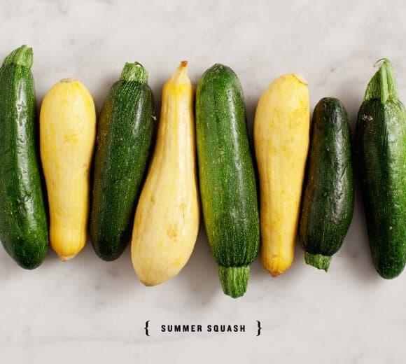 Lemony Summer Squash Orecchiette / @loveandlemons