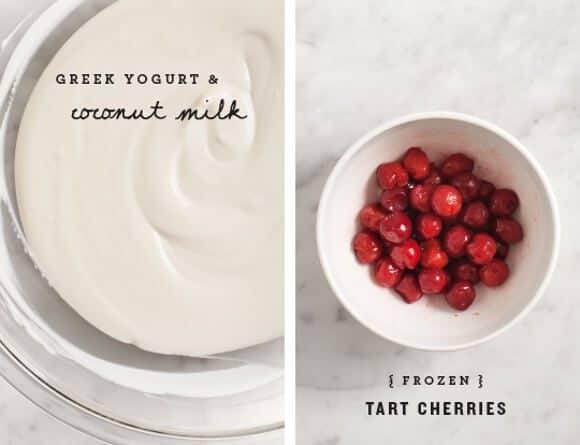 Tart Cherry Frozen Yogurt / @loveandlemons