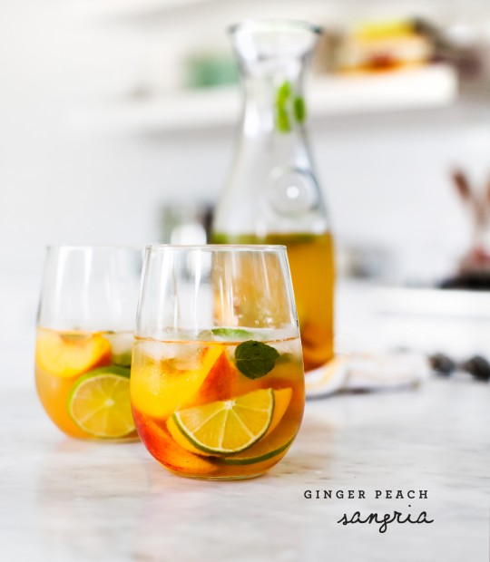 Ginger Peach Sangria Recipe