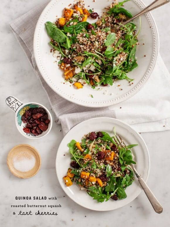 Butternut Squash and Tart Cherry Quinoa Salad / @loveandlemons