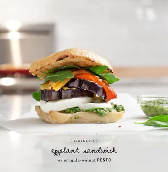 Grilled Eggplant and Arugula-Pesto Sandwiches / www.loveandlemons.com