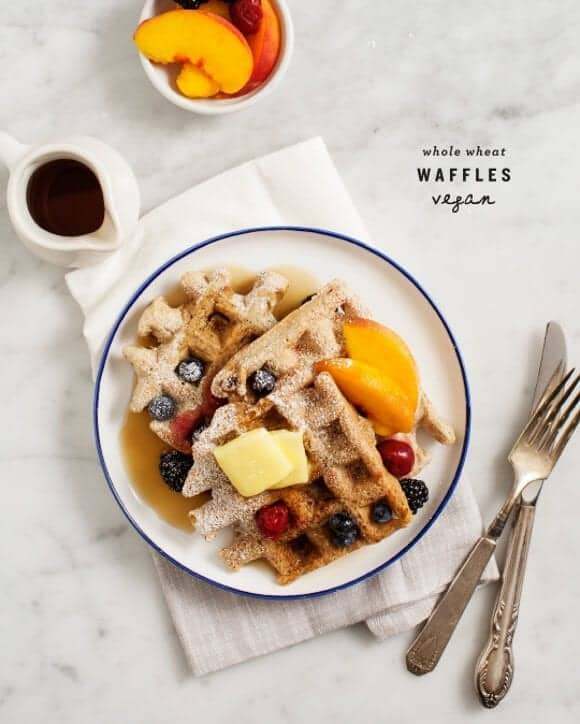 Whole Wheat Vegan Waffles / @loveandlemons