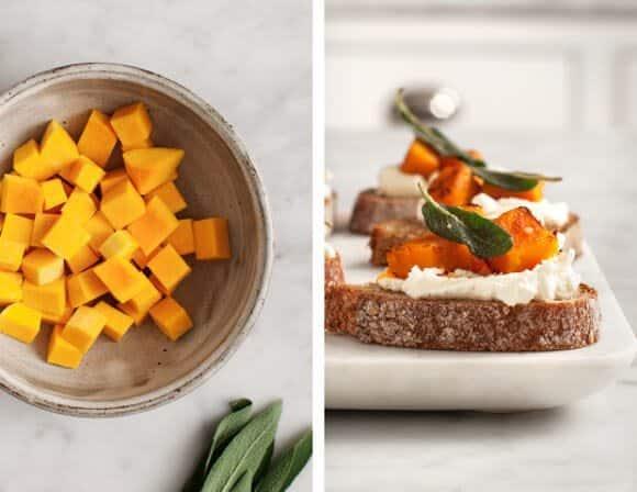 butternut squash soup & sage crostini / @loveandlemons