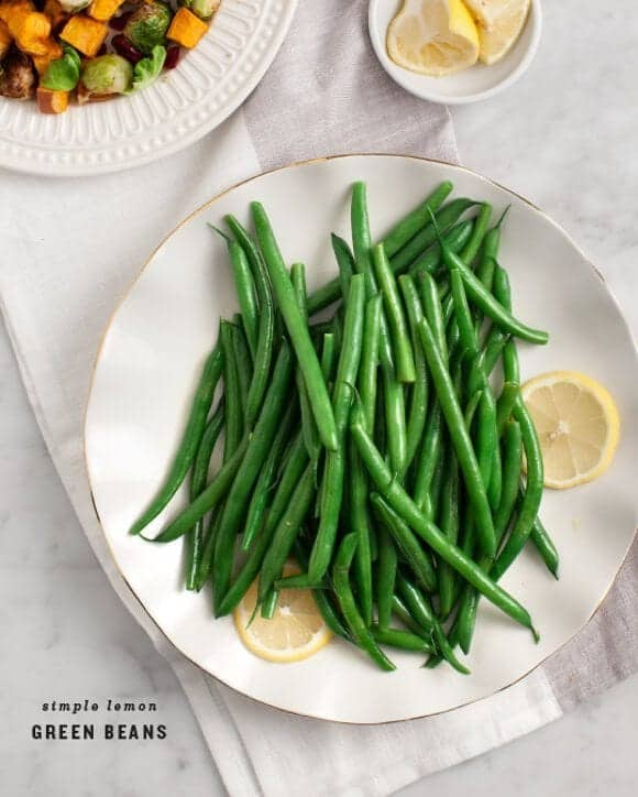 Simple lemon green beans recipe love and lemons for Easy thanksgiving green bean recipes