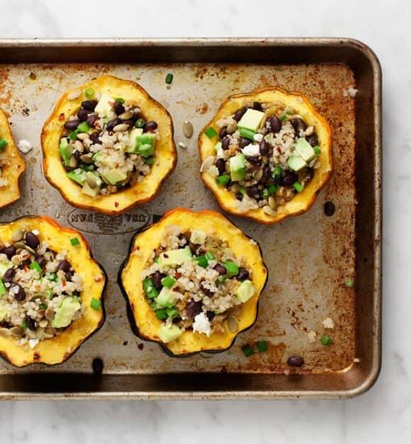 Avocado & Quinoa Stuffed Acorn Squash / @loveandlemons