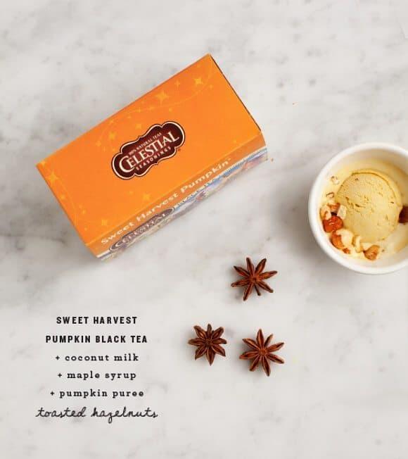 Sweet Harvest Black Tea Pumpkin Ice Cream / @loveandlemons #vegan